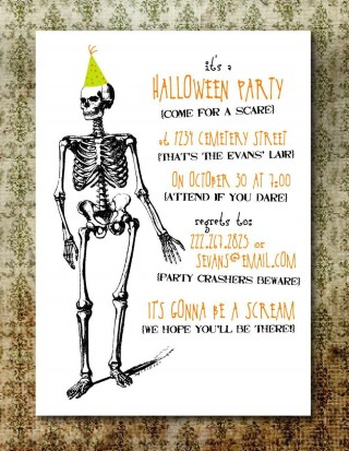 004 Rare Free Halloween Party Invitation Template Design  Printable Birthday For Word Download320