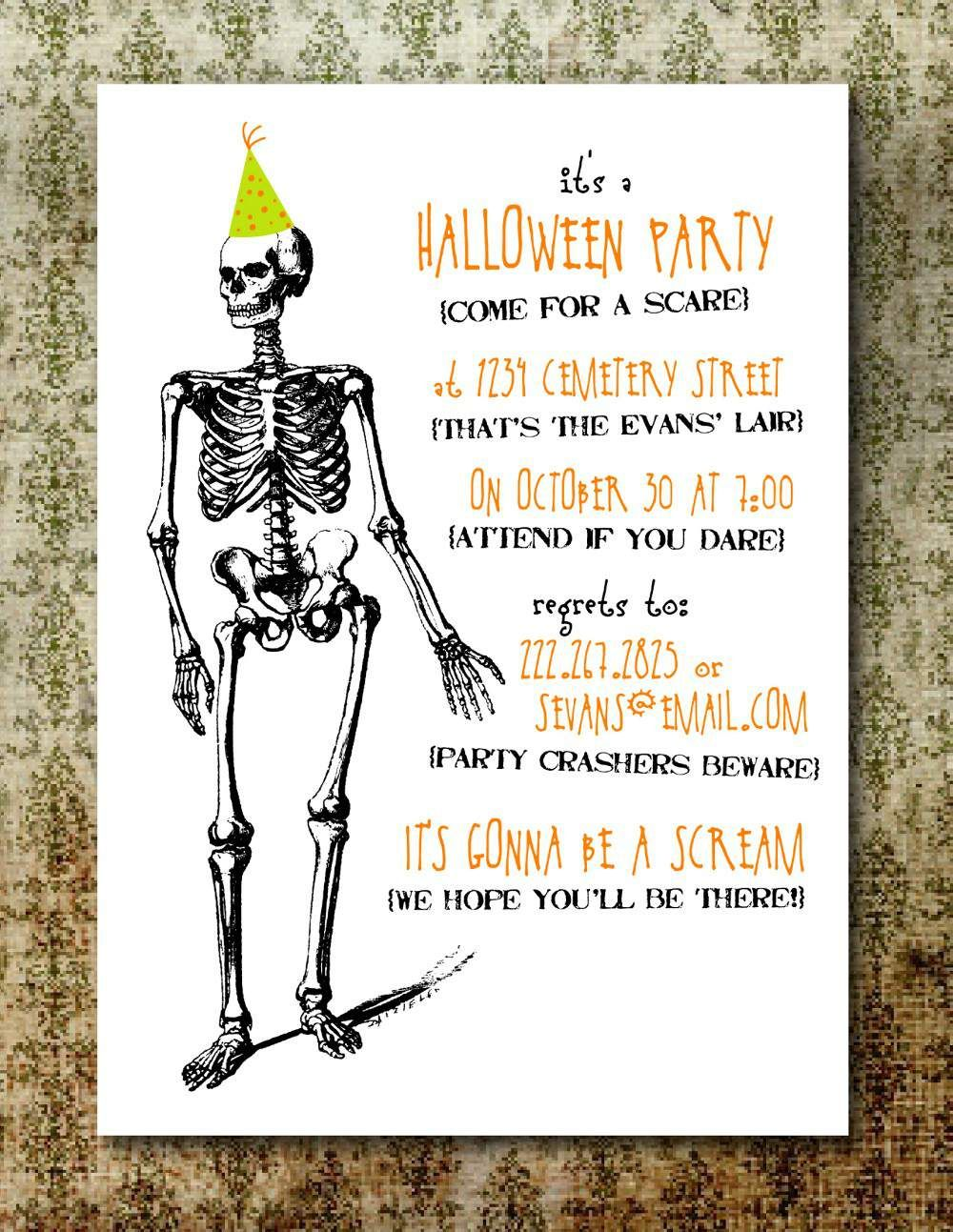 004 Rare Free Halloween Party Invitation Template Design  Templates Download Printable BirthdayFull