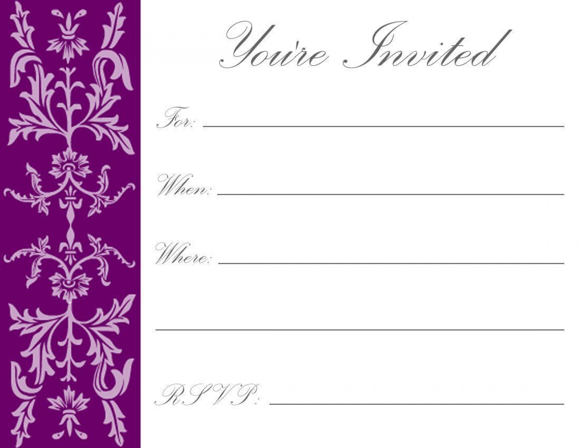 004 Rare Free Online Birthday Invitation Maker Printable Photo  1st Card1920