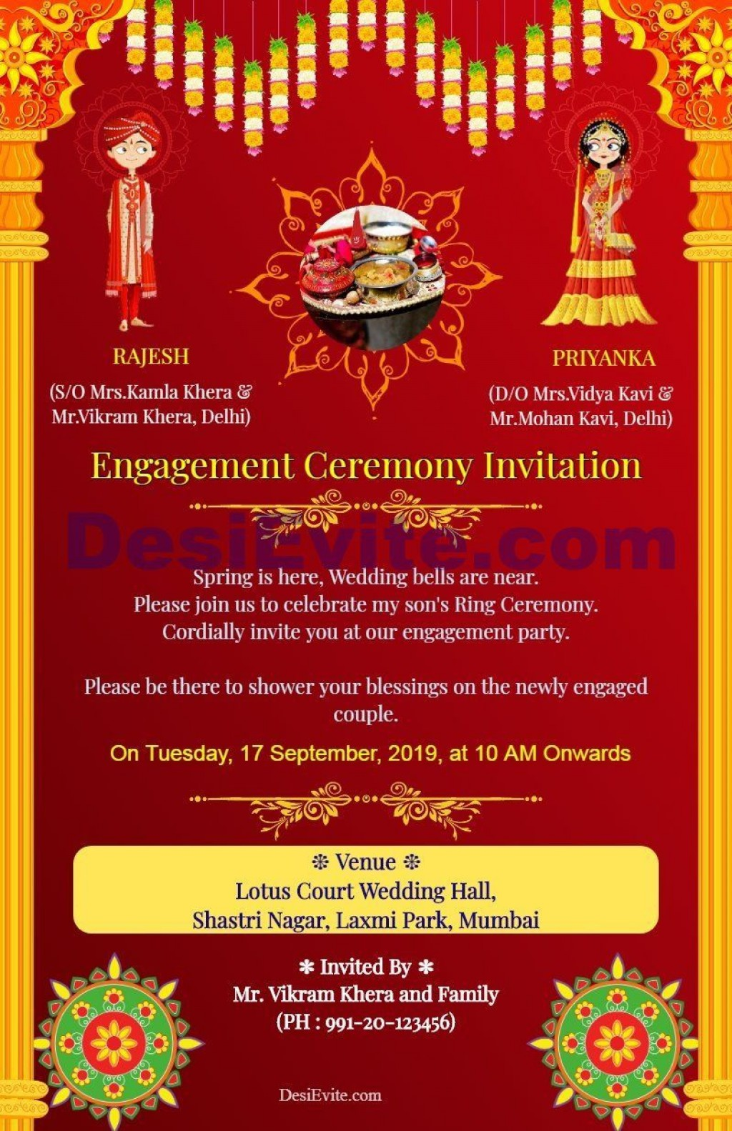 004 Rare Free Online Indian Invitation Template Picture  Templates Engagement Card Maker WeddingLarge