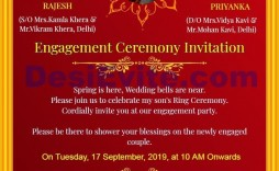 004 Rare Free Online Indian Invitation Template Picture  Templates Engagement Card Maker Wedding