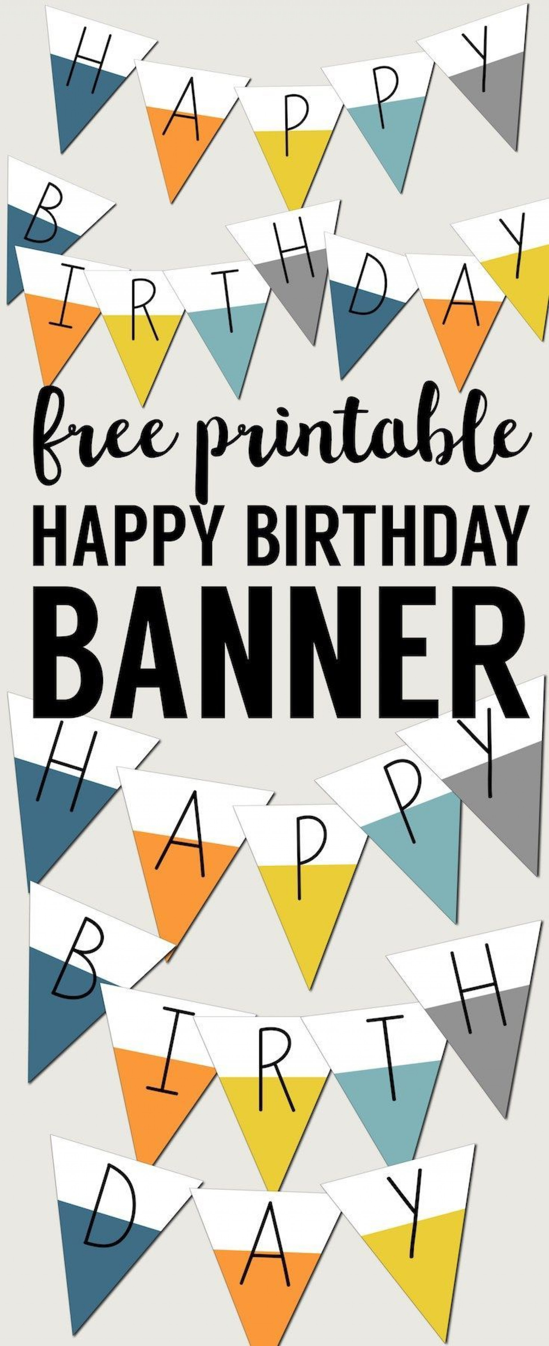 004 Rare Happy Birthday Sign Template Idea  Banner Printable Pdf Free Word1920