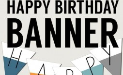 004 Rare Happy Birthday Sign Template Idea  Banner Printable Pdf Free Word