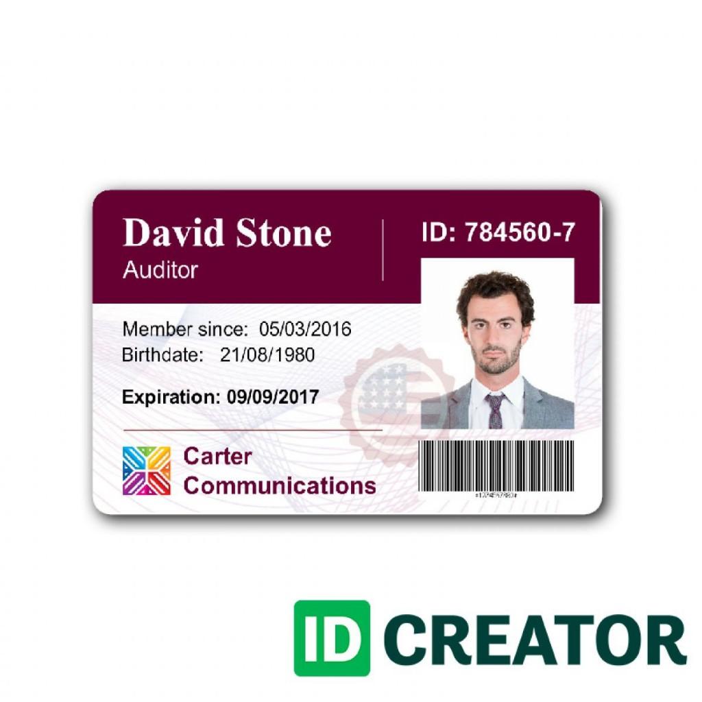 004 Rare Id Badge Template Word Example  Free EmployeeLarge