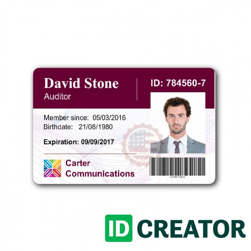 004 Rare Id Badge Template Word Example  Employee Photo Microsoft