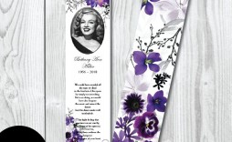 004 Rare In Loving Memory Bookmark Template Free Download Sample