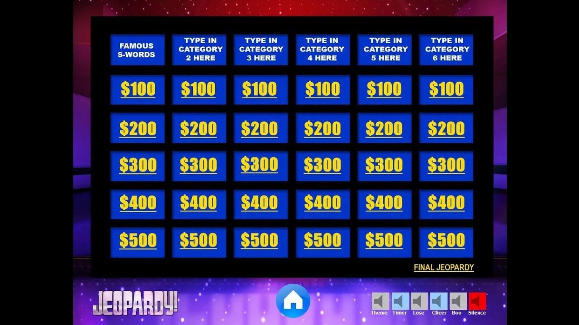 004 Rare Jeopardy Template Google Slide Highest Clarity  Slides Board Blank Best1920
