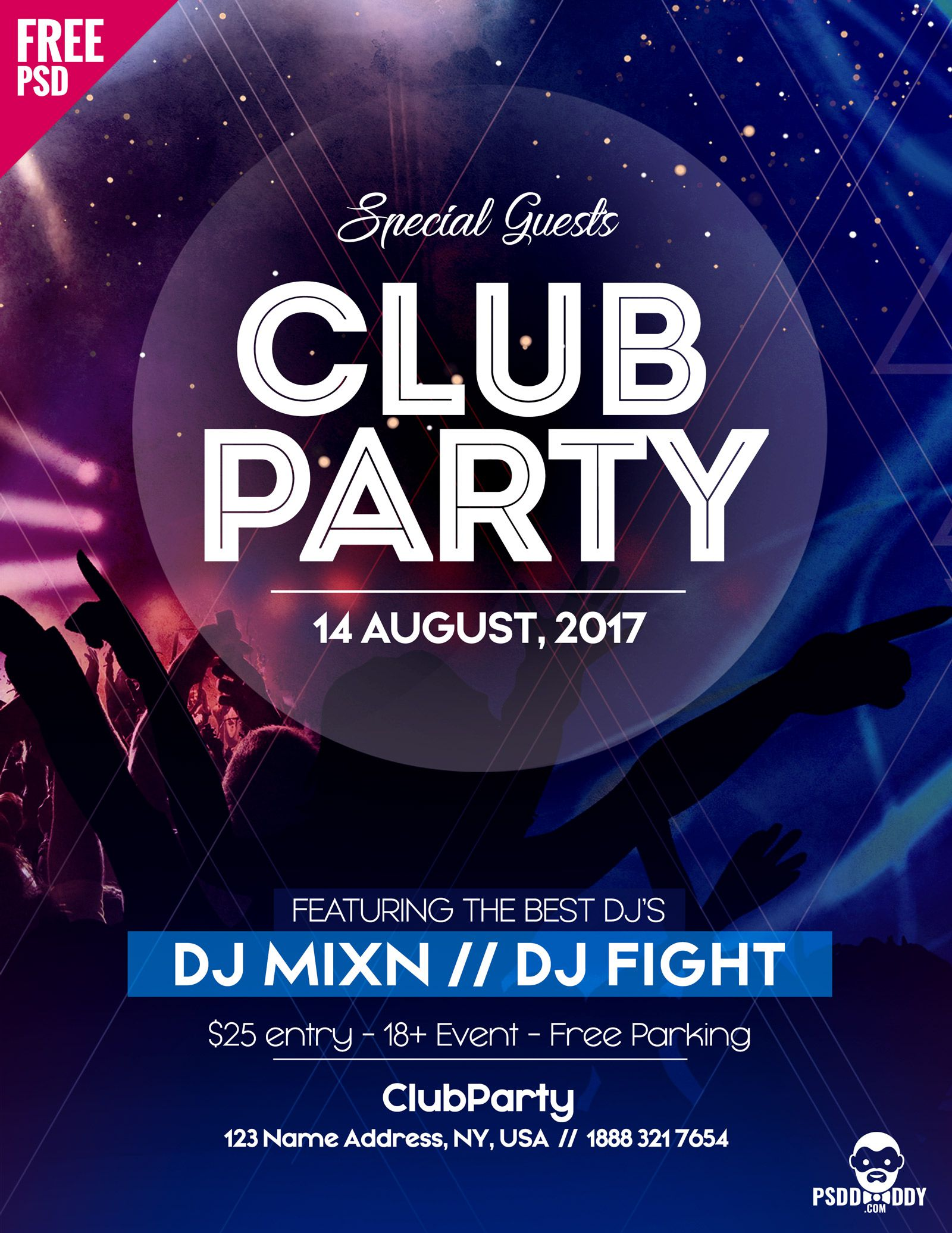 004 Rare Party Event Flyer Template Free Download Picture Full