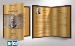 004 Rare Template For Funeral Program Publisher Sample