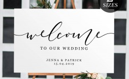 004 Rare Wedding Welcome Sign Template Free Design