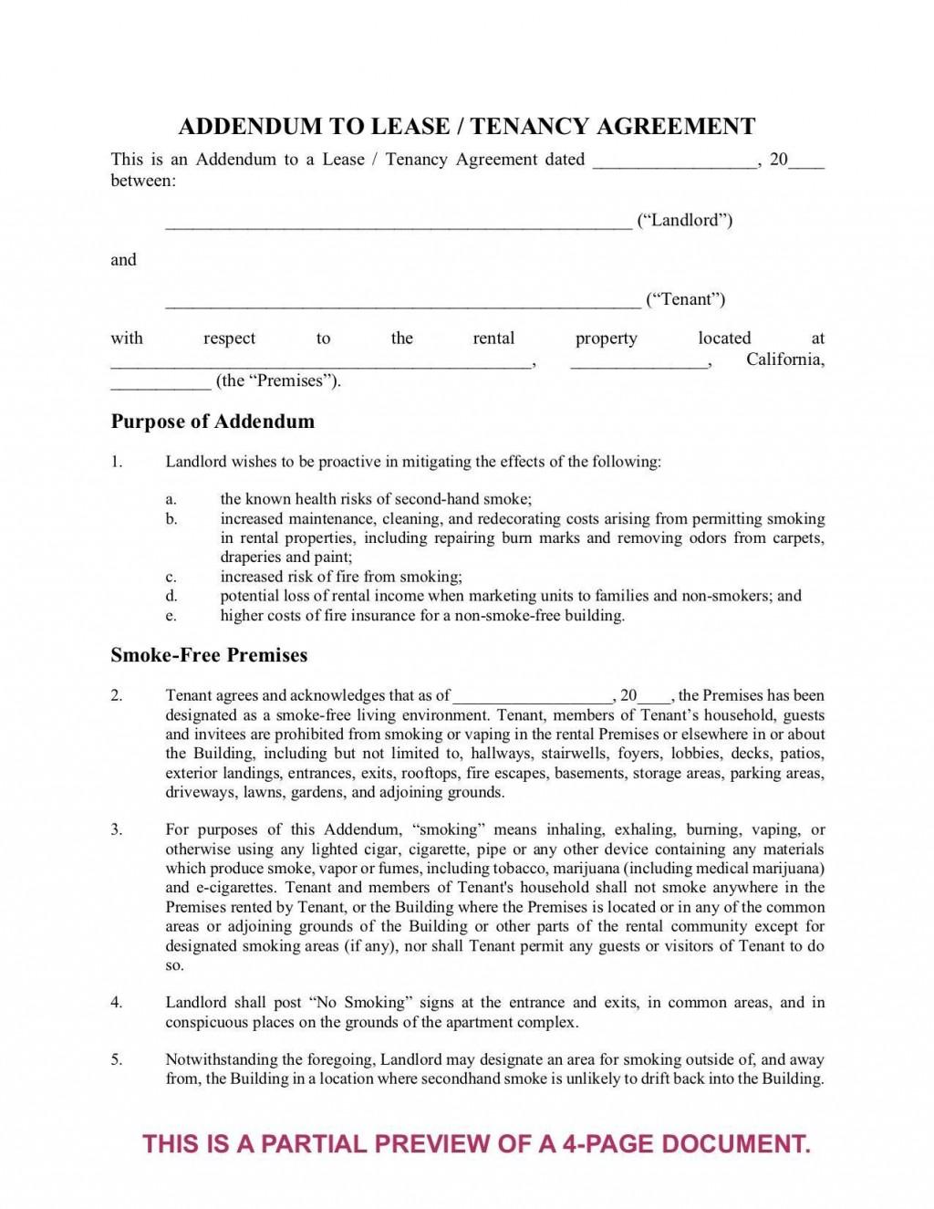 004 Remarkable Addendum Form For Rental Agreement High Def Large