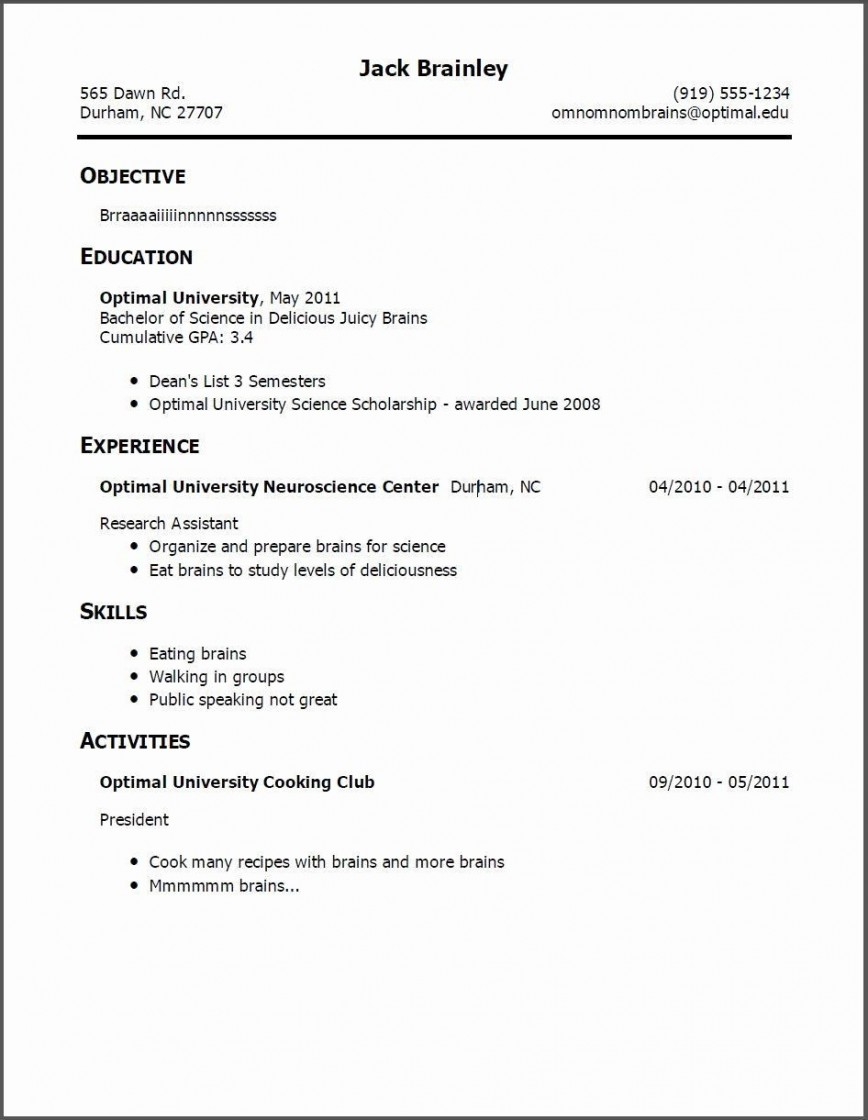 004 Remarkable First Time Resume Template Photo  Job Seeker Teenage Australia Part