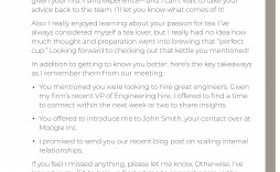 004 Remarkable Follow Up Letter After Meeting Highest Clarity  Sale Thank You For With Bos
