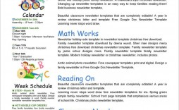 004 Remarkable Free Editable Daycare Newsletter Template For Word High Definition  Classroom