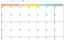 004 Remarkable Free Printable Blank Monthly Calendar Template Sample  Templates