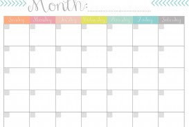004 Remarkable Free Printable Blank Monthly Calendar Template Sample