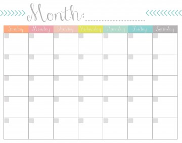 004 Remarkable Free Printable Blank Monthly Calendar Template Sample 360