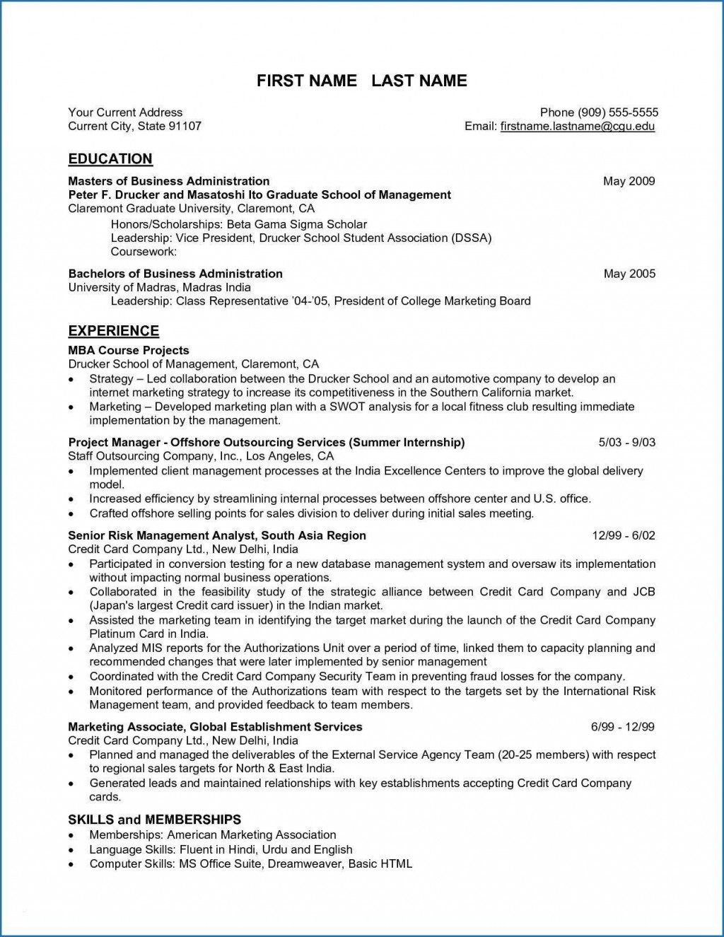 004 Remarkable Grad School Resume Template Free Photo Large