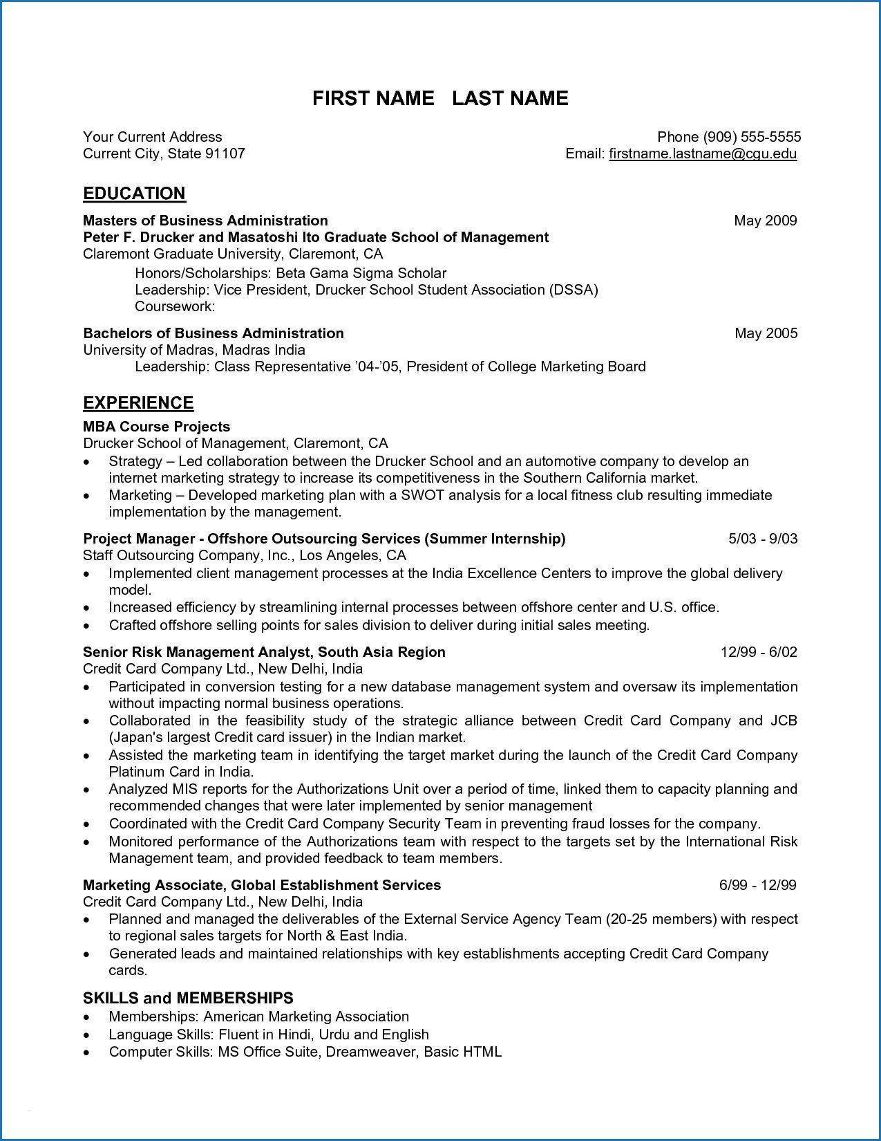 004 Remarkable Grad School Resume Template Free Photo Full