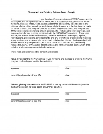 004 Remarkable Model Release Form Template High Resolution  Photographer Gdpr Simple360