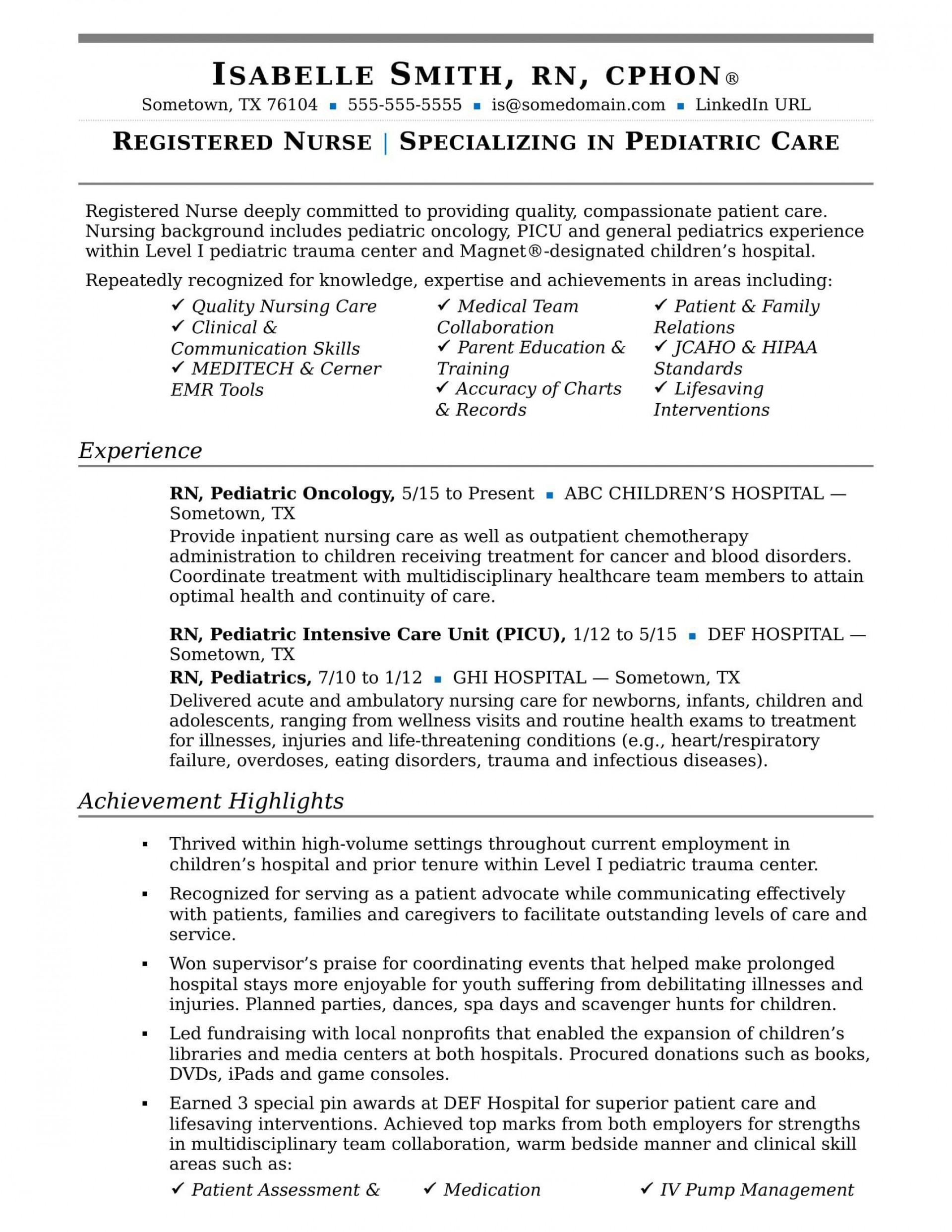 004 Remarkable New Rn Resume Template Picture 1920