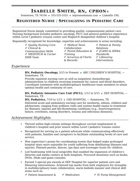004 Remarkable New Rn Resume Template Picture 480