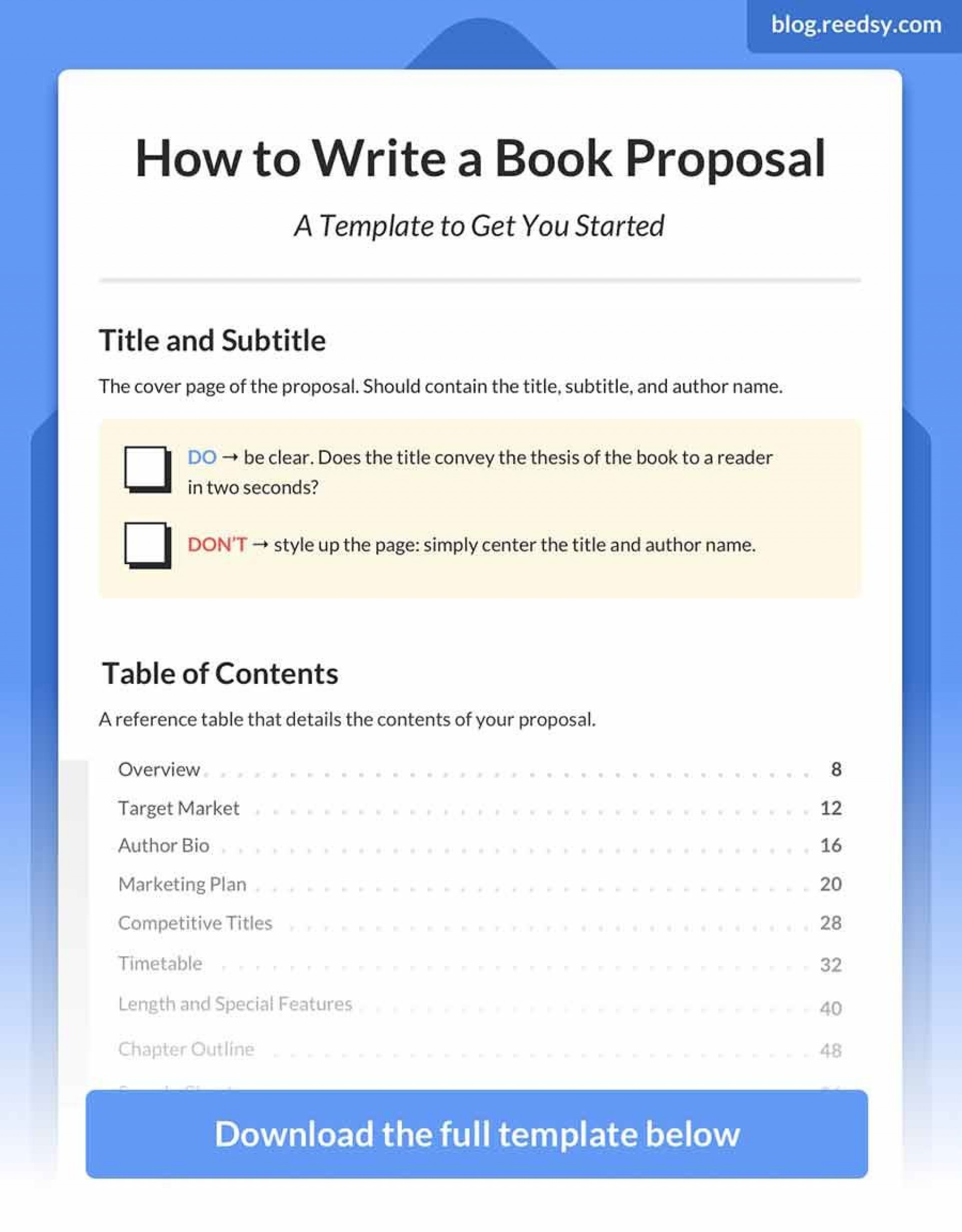 004 Remarkable Nonfiction Book Proposal Template High Definition  Example1920