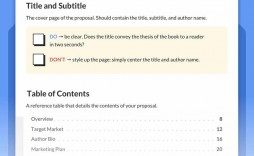 004 Remarkable Nonfiction Book Proposal Template High Definition  Example