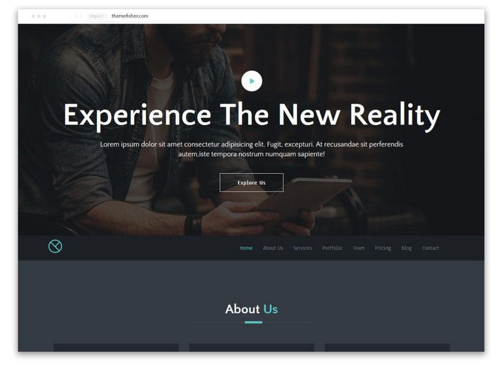 004 Remarkable One Page Responsive Website Template Bootstrap Free Highest Quality  DownloadLarge