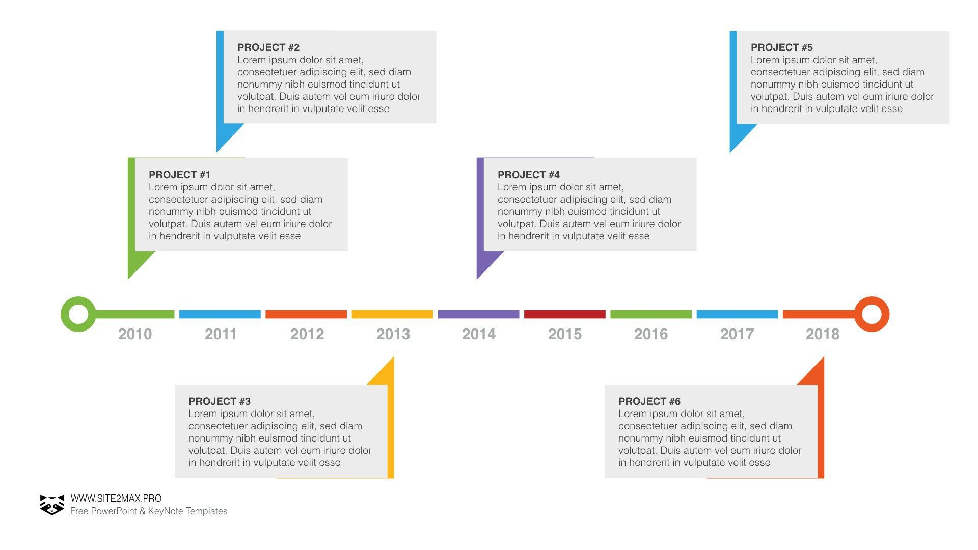 004 Remarkable Powerpoint Timeline Template Free Download Concept  Project HistoryFull