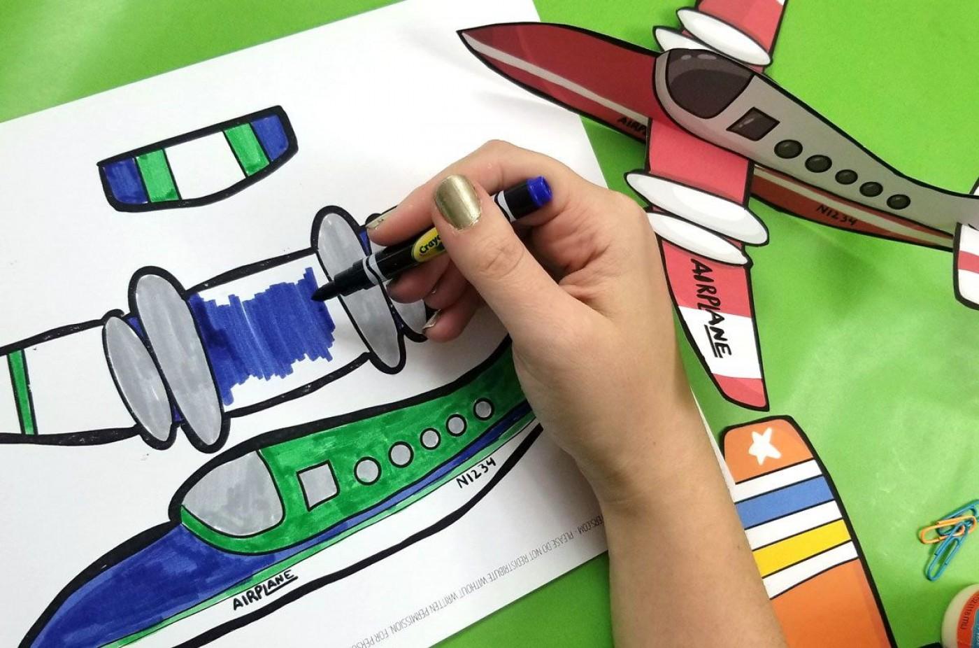 004 Remarkable Printable Paper Plane Plan Design  Free Airplane Template Pdf1400
