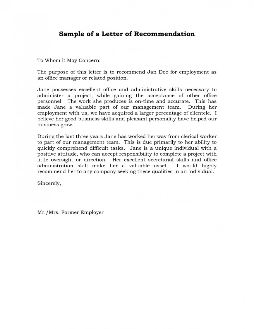 004 Remarkable Professional Reference Letter Template Sample  Nursing Free Character868