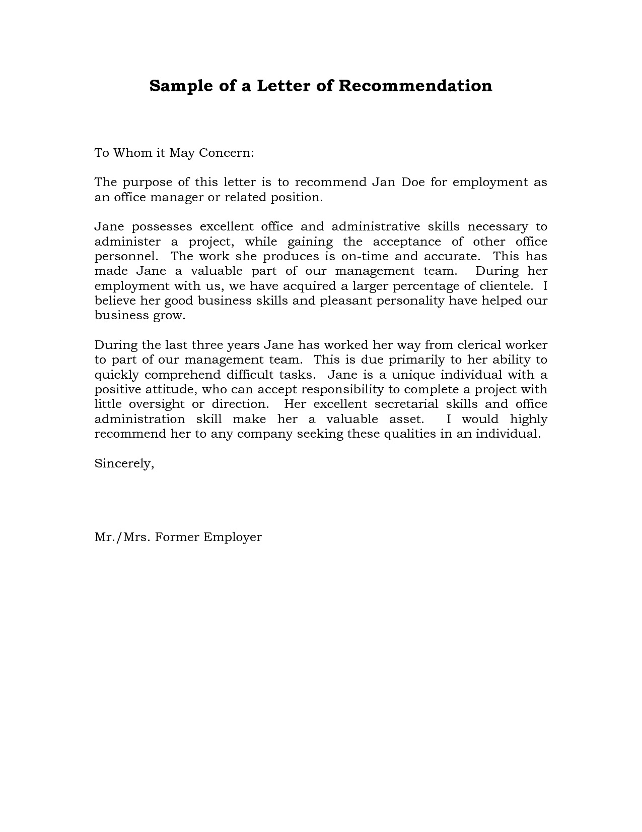004 Remarkable Professional Reference Letter Template Sample  Nursing Free CharacterFull