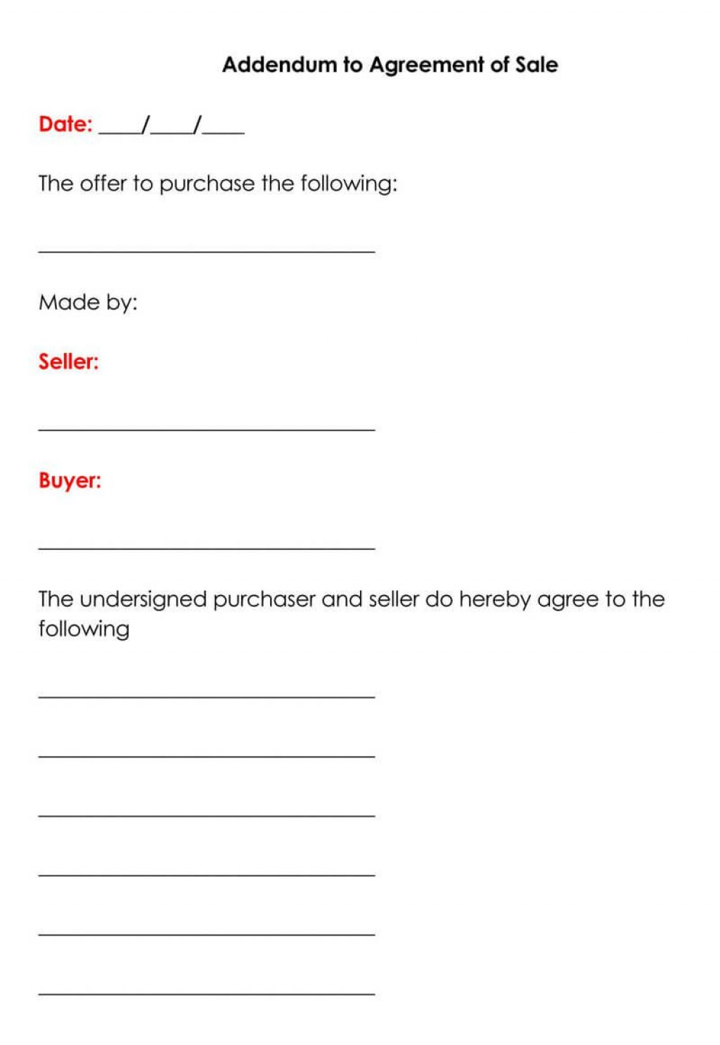 004 Remarkable Simple Real Estate Buy Sell Agreement Template Example  Free Purchase Form OhioLarge