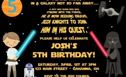 004 Remarkable Star War Birthday Invitation Template Concept  Free Party Printable
