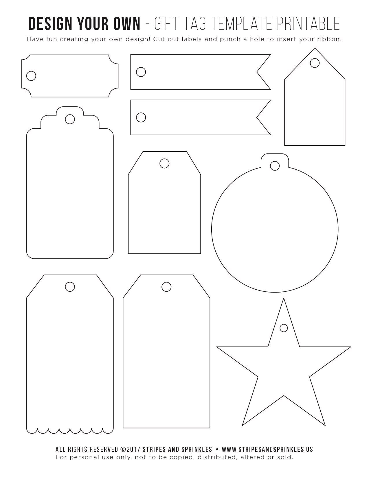 004 Remarkable Template For Gift Tag Highest Clarity  Tags Blank AveryFull