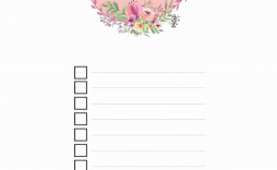004 Remarkable Thing To Do List Template Example