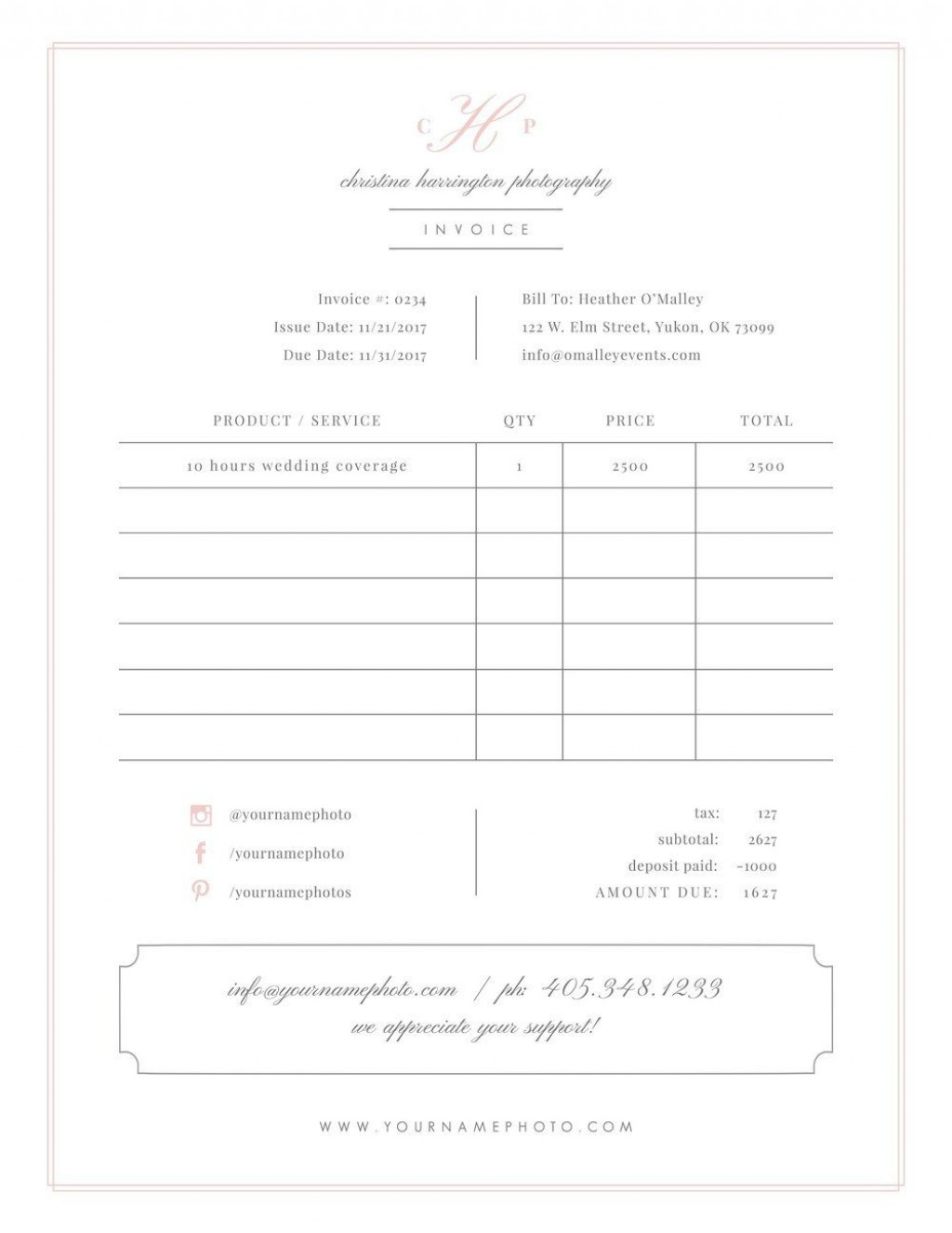 004 Remarkable Wedding Photographer Contract Template Free Sample  Simple Photography WordLarge