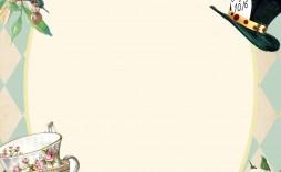 004 Sensational Alice In Wonderland Invite Template Design  Party Invitation Free