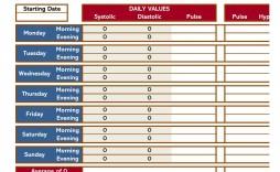 004 Sensational Blood Pressure Log Template High Definition  Printable Free Sheet Chart