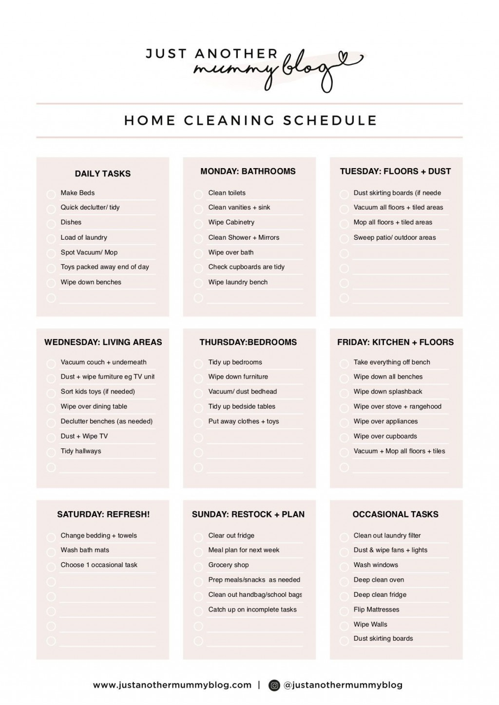 004 Sensational Care Home Cleaning Schedule Template Design  KitchenLarge