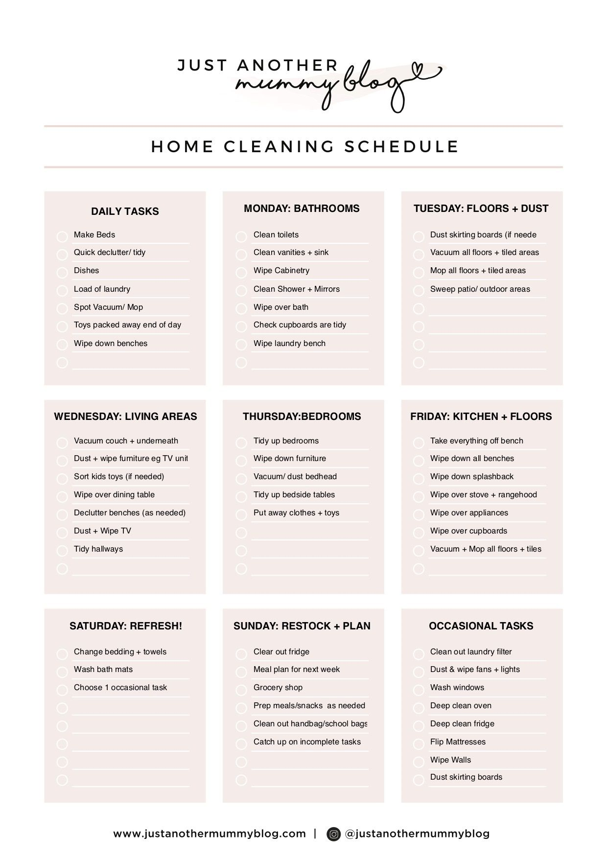 004 Sensational Care Home Cleaning Schedule Template Design  KitchenFull