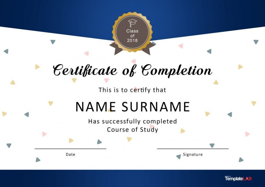 004 Sensational Certificate Of Completion Template Free High Resolution  Training Download Word