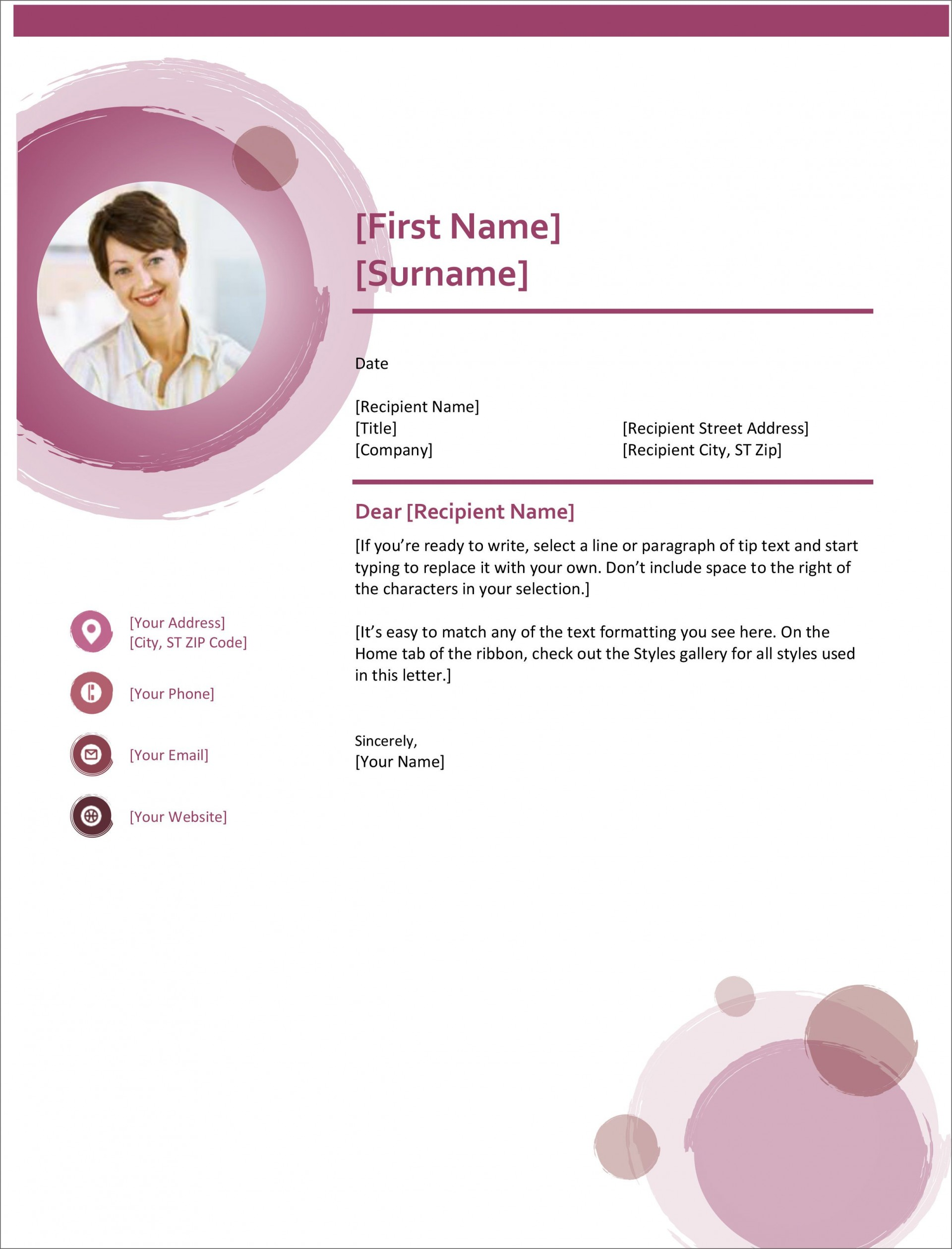 004 Sensational Cover Letter Template Word Free Highest Quality  Creative Sample Doc Microsoft 20071920