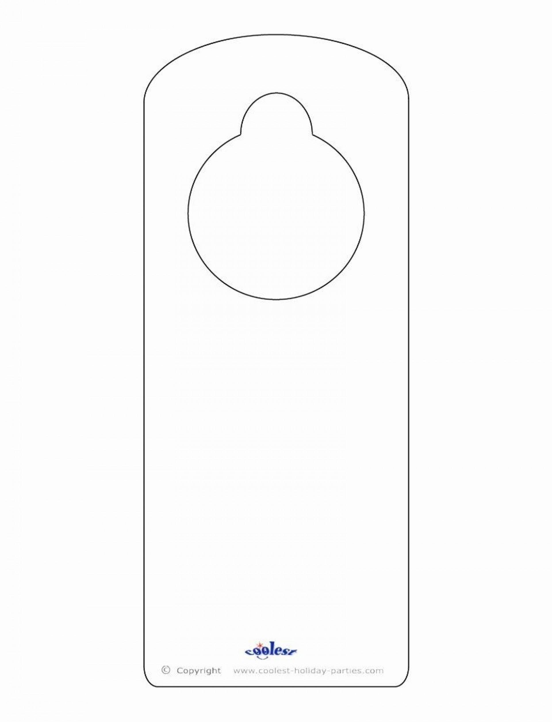 004 Sensational Door Hanger Template For Word Highest Clarity  Download Free Wedding Microsoft1920