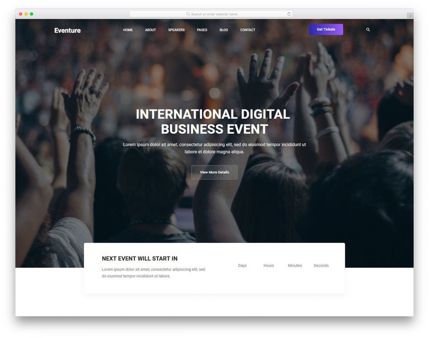 004 Sensational Free Event Planner Website Template Picture  Download Bootstrap1400