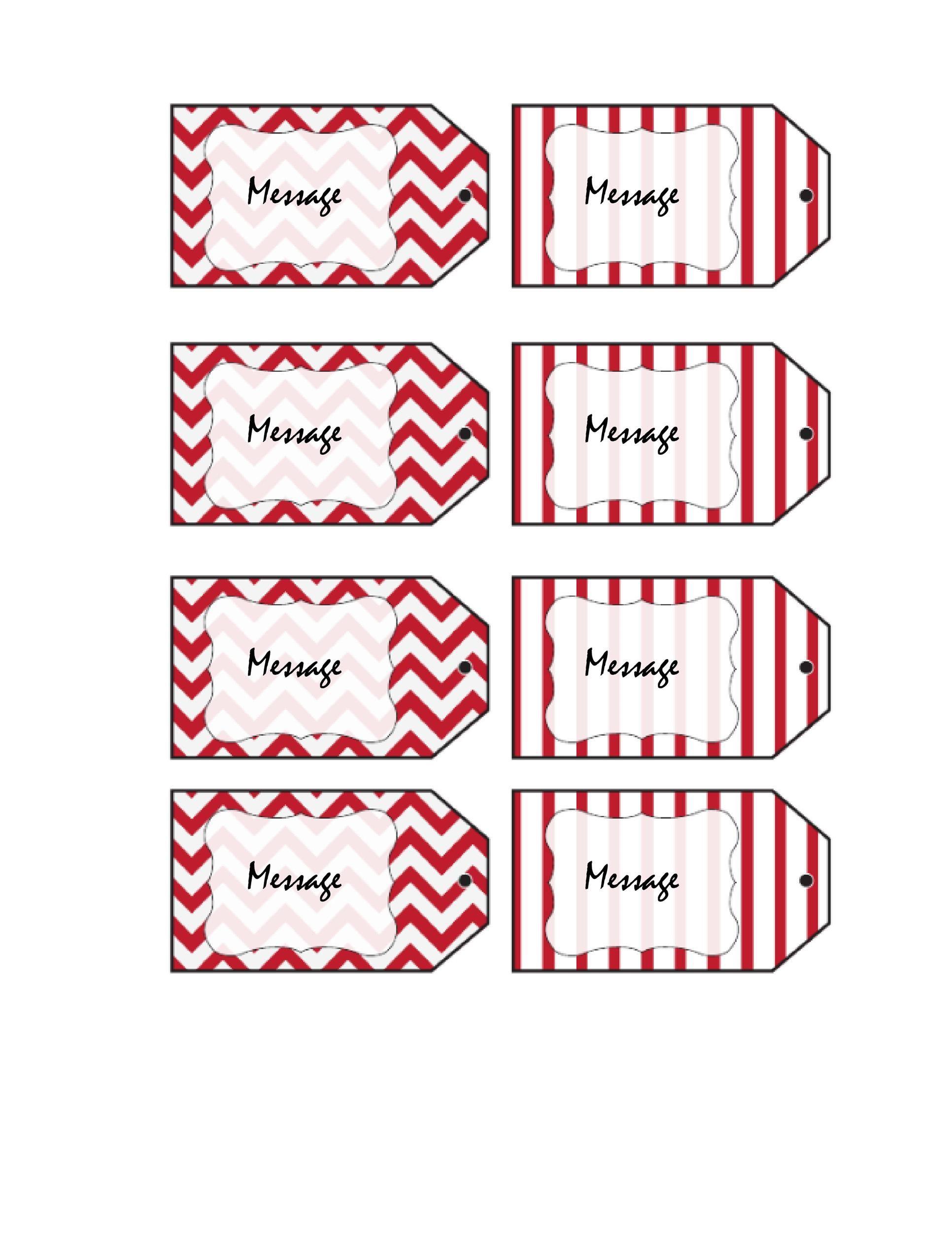 004 Sensational Free Gift Tag Template Idea  Templates Downloadable Christma Printable For Word To PrintFull
