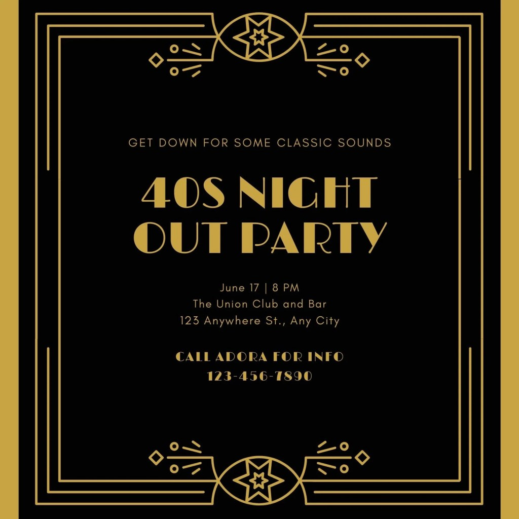 004 Sensational Great Gatsby Invitation Template Inspiration  Templates Free Download BlankLarge