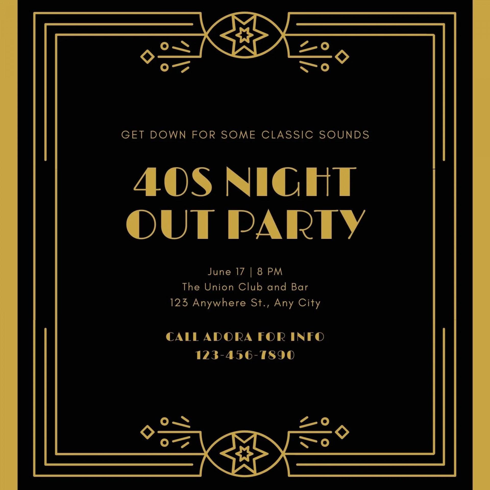 004 Sensational Great Gatsby Invitation Template Inspiration  Templates Free Download Blank1920