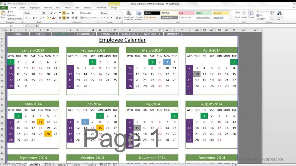 004 Sensational Microsoft Excel Calendar Template Inspiration  Office 2013 M Yearly 2019Large